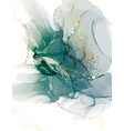 green watercolor abstract teal background vector image