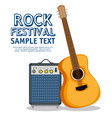 guitar acoustic instrument label vector image