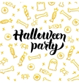 Halloween Party Gold Greeting Card vector image vector image
