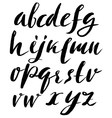 Hand drawn font made by dry brush strokes Grunge