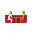happy arab family couple in national clothes vector image vector image