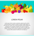 healthy food background design template banner vector image vector image