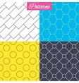 Hex diagonal rectangles and circles textures vector image vector image
