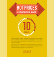 hot prices clearance sale on vector image