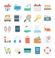 Hotel and Services Colored Icons 1 vector image