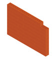 isometric brick wall vector image vector image