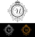 Letter U Luxury Logo template flourishes vector image