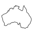 map of australia icon black color flat style vector image
