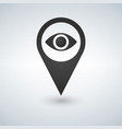 map pointer with eye icon iolated on white vector image vector image