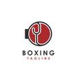 modern geometric boxing glove logo icon template vector image