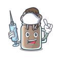 nurse milkshake character cartoon style vector image vector image