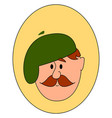 painter with green hat on white background vector image vector image