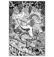 pan satyr engraved fantasy vector image vector image