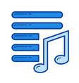 playlist line icon vector image vector image