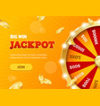 realistic detailed 3d casino fortune wheel jackpot vector image vector image