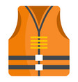 rescue vest icon flat style vector image