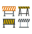 road barrier icon set flat style vector image