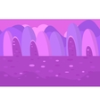 Seamless Landscape of Pink and Purple Hills for vector image vector image