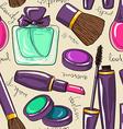 seamless pattern decorative cosmetics vector image vector image