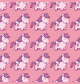 seamless pattern with pegasus in kawaii japanese vector image vector image