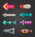 Set of fantastic arrows vector image vector image