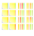 Set of Postit Labels With Decorative Border vector image