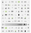 Set of tourism stickers vector image vector image