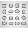 Set of vintage frames and design elements vector image vector image