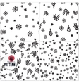 set simple christmas patterns vector image