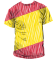 Spanish tee vector image vector image