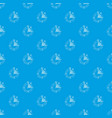 stopwatch pattern seamless blue vector image vector image