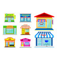 striped awning sunshade or front store with awning vector image vector image