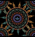 tapestry floral abstract seamless mandala vector image vector image