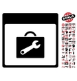 Toolbox Calendar Page Flat Icon With Bonus vector image