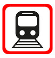train icon metro and tram railroad symbol vector image vector image