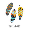 tribal with feathers vector image vector image