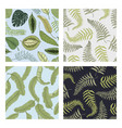 tropical or exotic leaves seamless pattern leaf vector image vector image