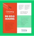 truck business company poster template with place vector image