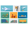 types delivery vector image vector image