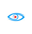 video play eye logo vector image vector image