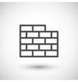 Brick wall line icon vector image