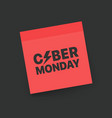 the cyber monday label discound paper sticker vector image