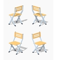 Low poly folding chair vector image