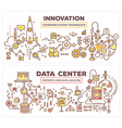 creative concept of data center and innovati vector image