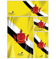 abstract brunei flag background vector image