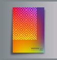 abstract design poster with rhombus and gradient vector image vector image