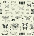 abstract seamless background with insects and vector image vector image