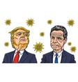 andrew cuomo and donald trump coronavirus cartoon vector image