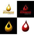 automotive and industrial lubricants icon and logo vector image vector image