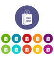 bag black friday icon simple style vector image